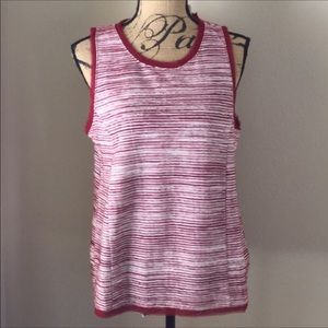 NWT cotton red sleeveless top Anthropologie L